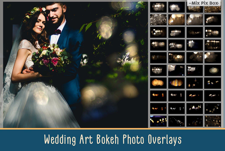 Wedding Art Bokeh Photo Overlays