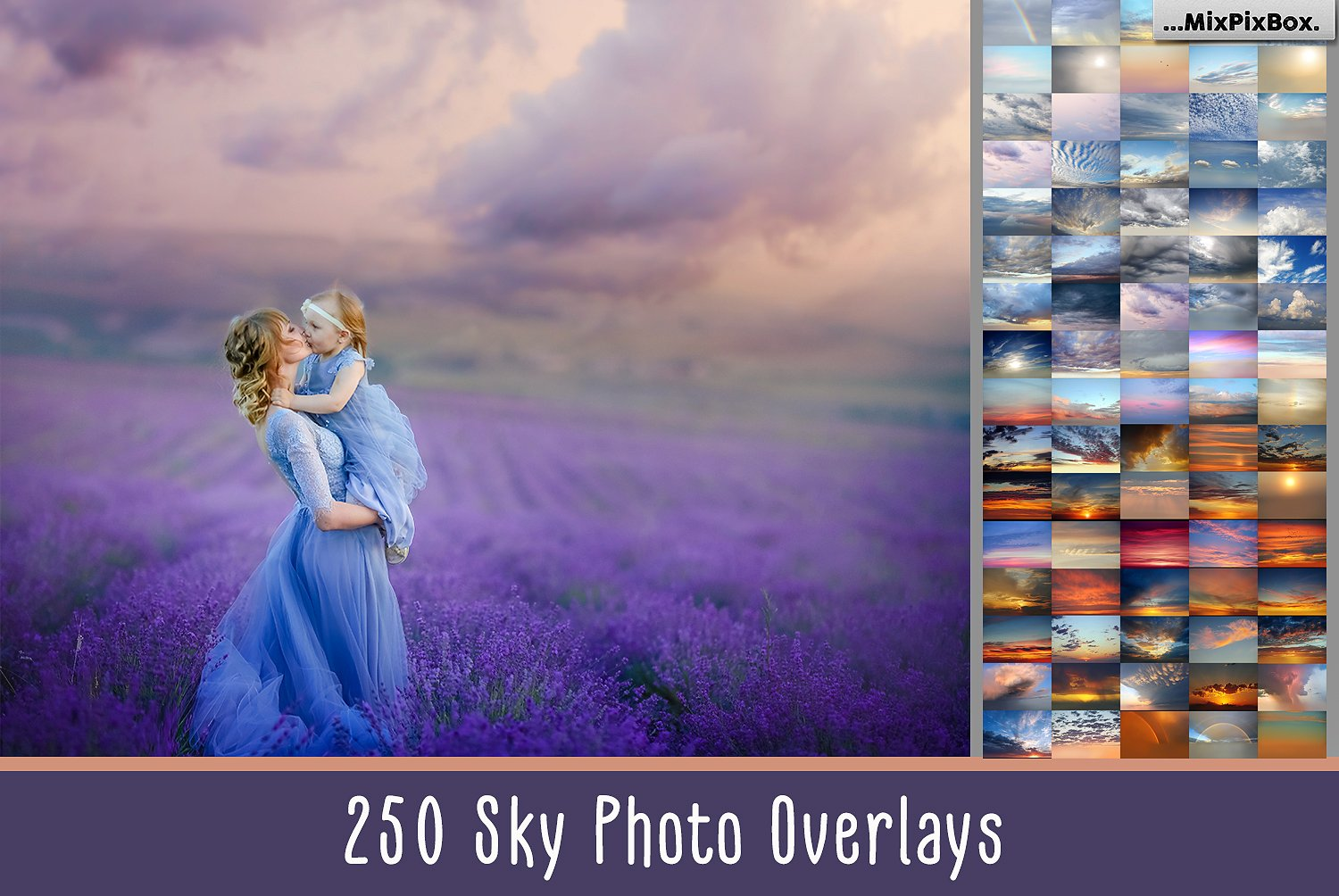 250 Sky Photo Overlays Mega Bundle