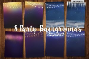 Party Backgrounds Digital Designs