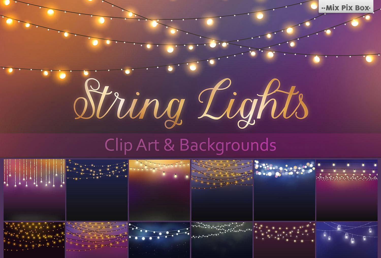 String Lights Clip Art + Backgrounds
