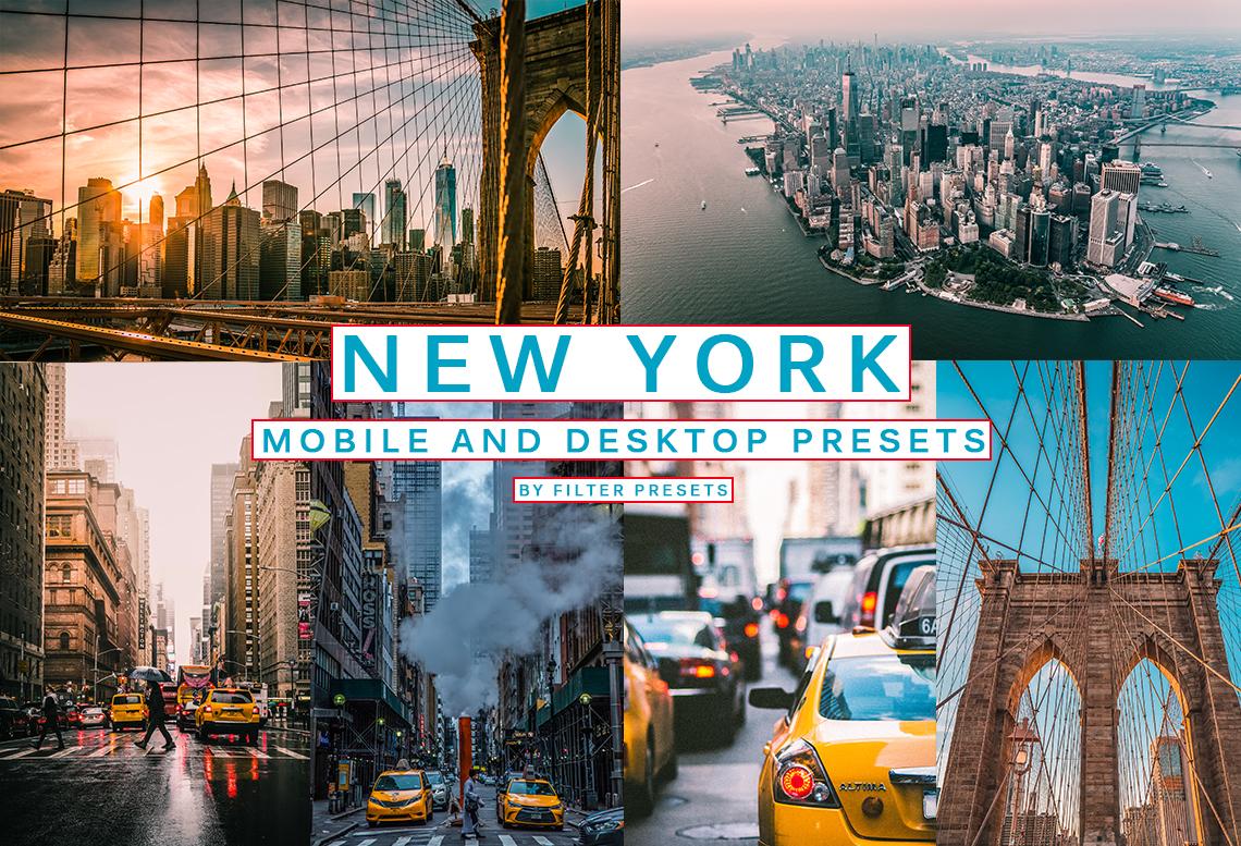 5 New York MOBILE DESKTOP Urban Lightroom Presets