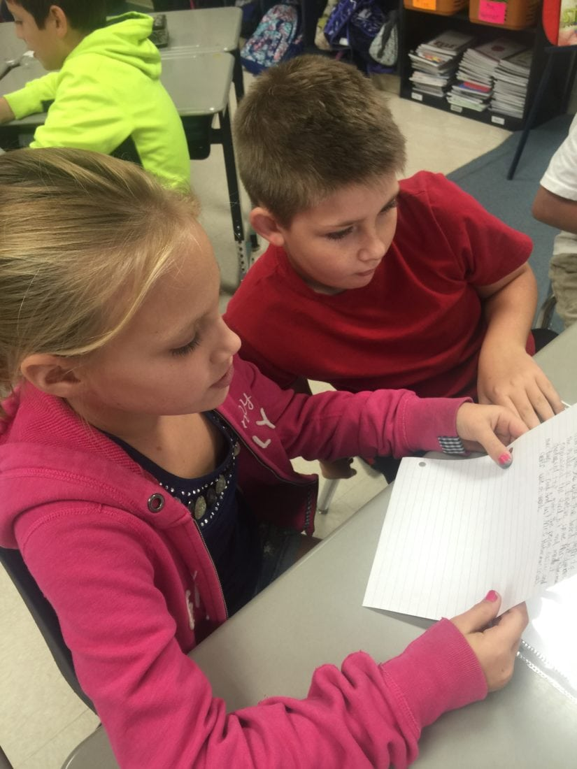 Quick Writing Scores helps students reflect on their writing.