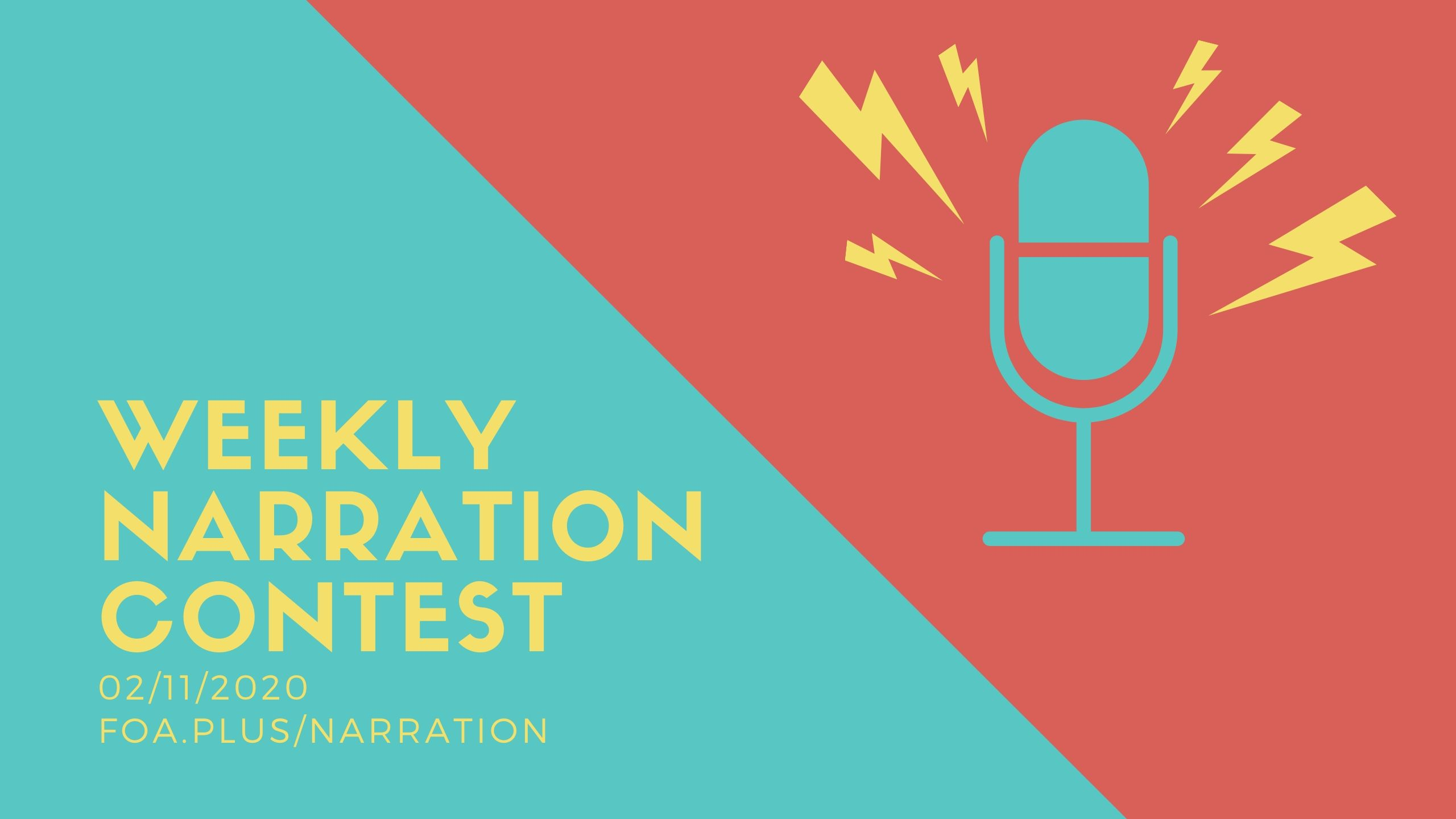 Weekly Narration Contest   02/11-02/18/2020