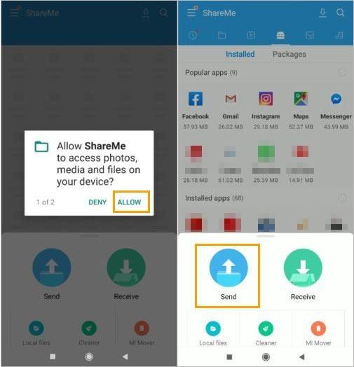 Tranfer data from Mi Phone