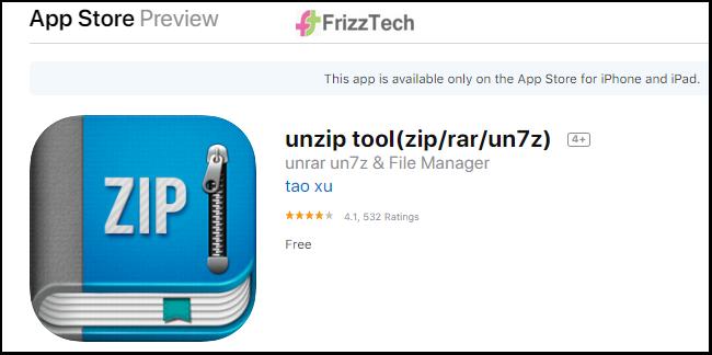 How to unzip Compressed files on the iphone ipad - Zip  unzip tool