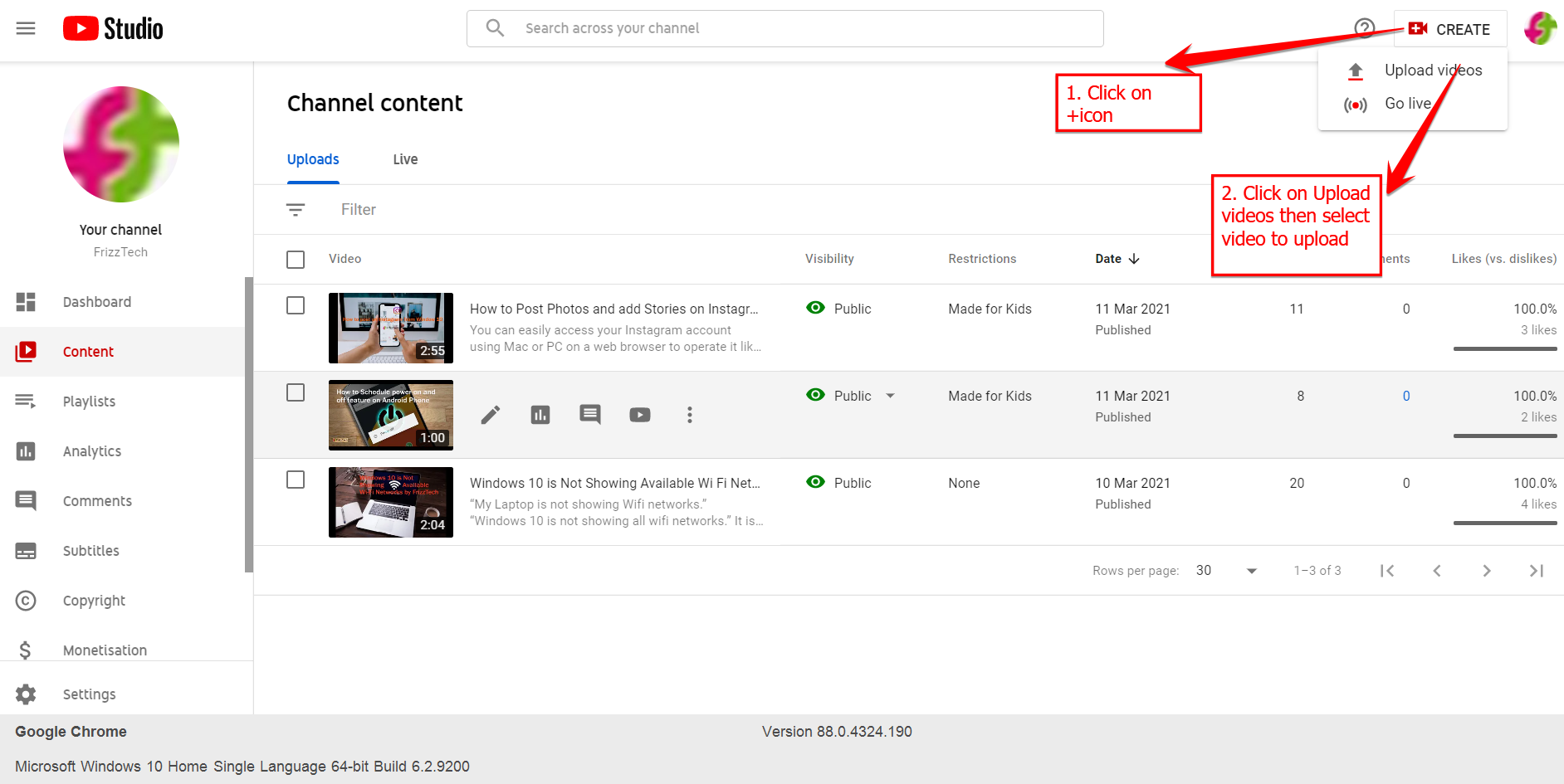 How to create a Youtube channel Step-by-Step Guide - Video Upload