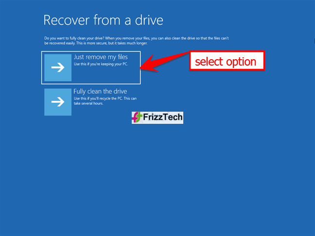 How to use a Windows 10 Recovery USB drive3