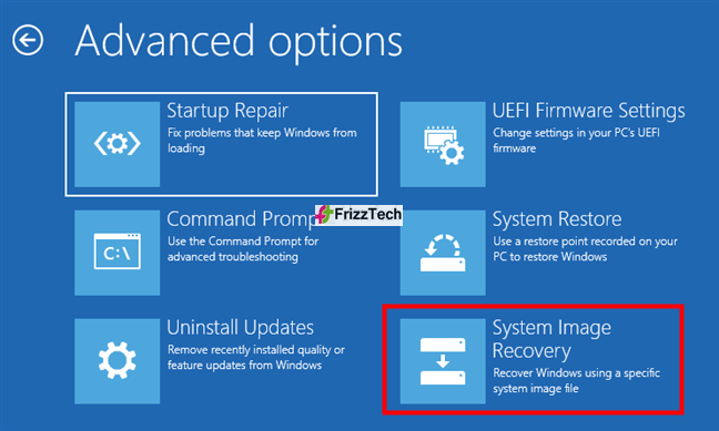 recovery USB drive to replace windows 10 and your data with a system image