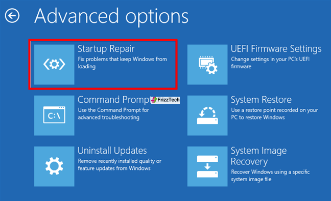 Windows 10 System Repair USB drive