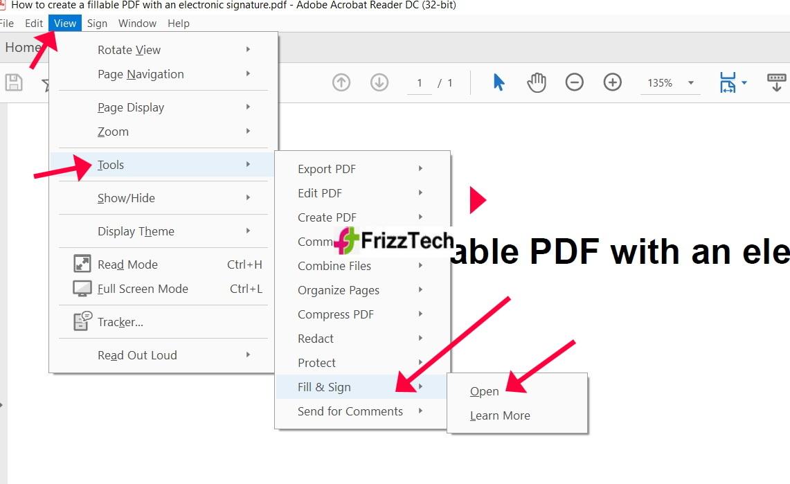 PDF with an electronic signature