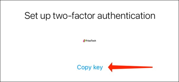 Instagram Security 2FA set steup Copy key