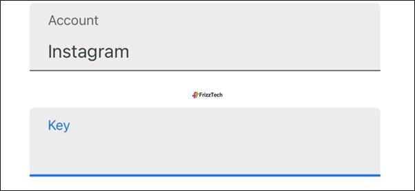 Instagram Security 2FA set steup Copy key start Enter key details