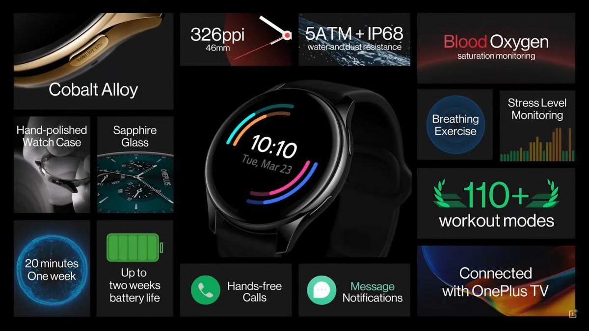 OnePlus Watch details