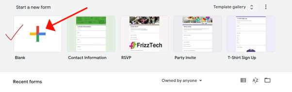 Survey Using Google Forms screen blank