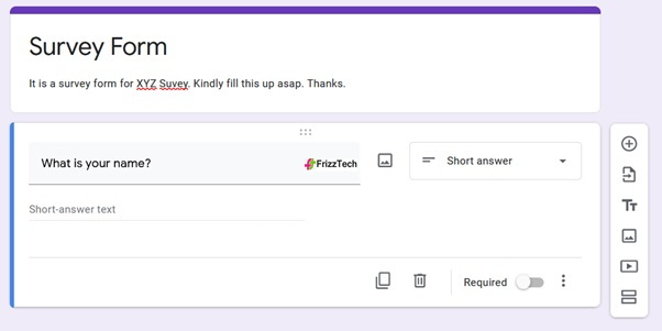 Google Forms screen survey form2