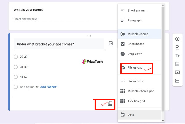 Google Forms screen survey form screen6