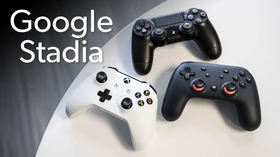 The Google stadia controller