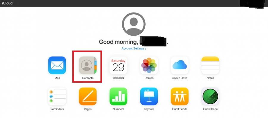 iCloud Browser Home