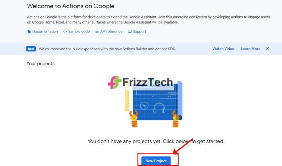 Google Action console
