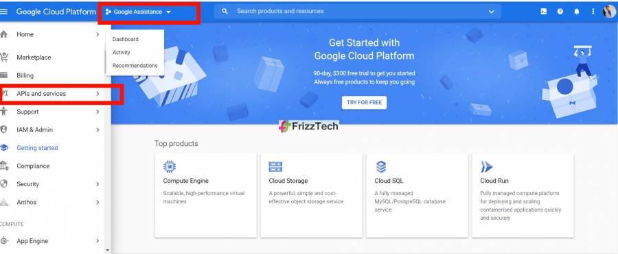 Google cloud project