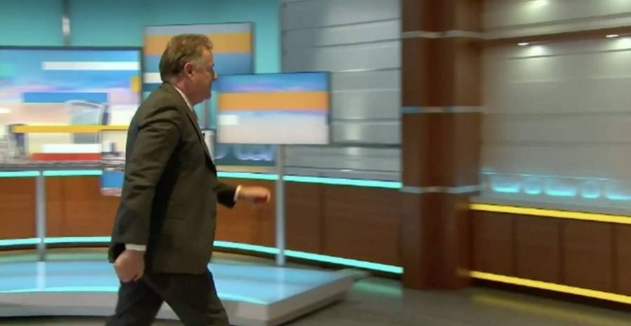 Walking out from show Piers morgan-tv show