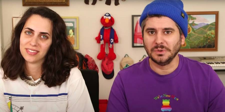 Ethan Klein's with his wife