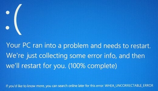 WHEA Uncorrectable Error on windows-10