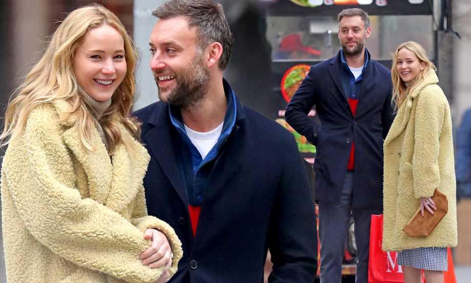 Jennifer Lawrence with her husband