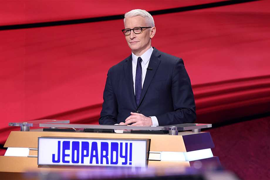 Host of Jeopardy Anderson Cooper
