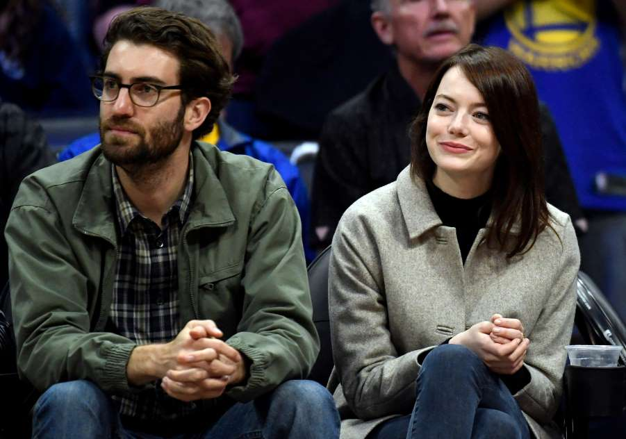 Emma Stone with his Dave McCary