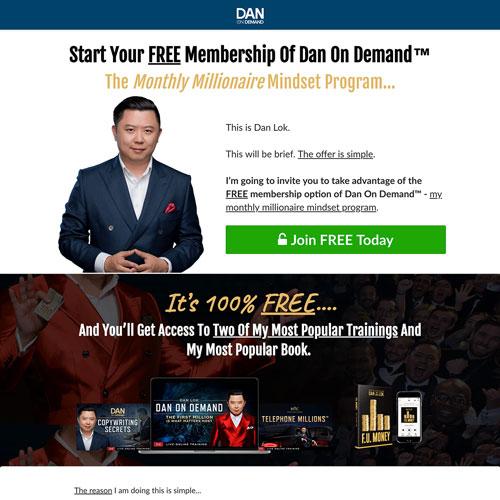 Online course funnel from Dan Lok
