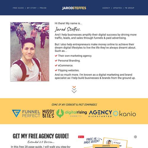 Digital Agency ebook funnel from Jarod Steffes