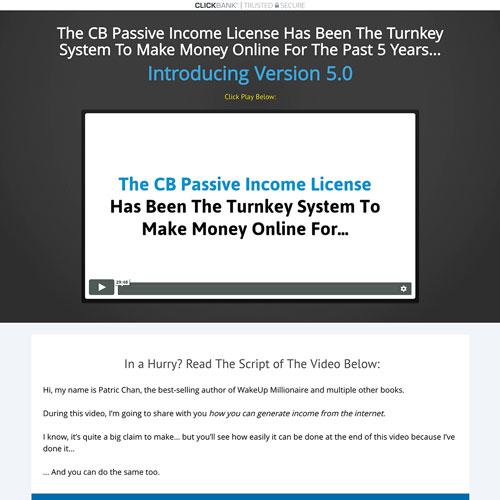 Affiliate marketing course funnel from cb passive income