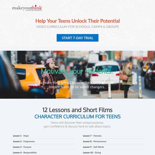 Online course sales funnel from makeyouthink.education