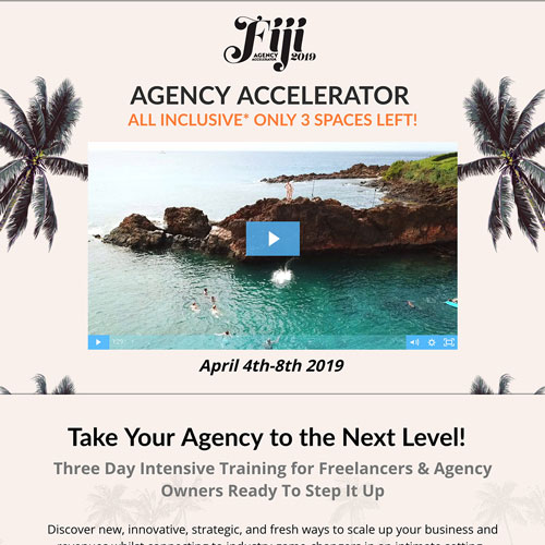 Live event Digital Agency accelerator funnel from Cat Howell
