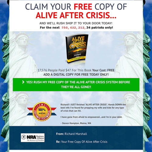 Free plus shipping book funnel from Richard Marshall