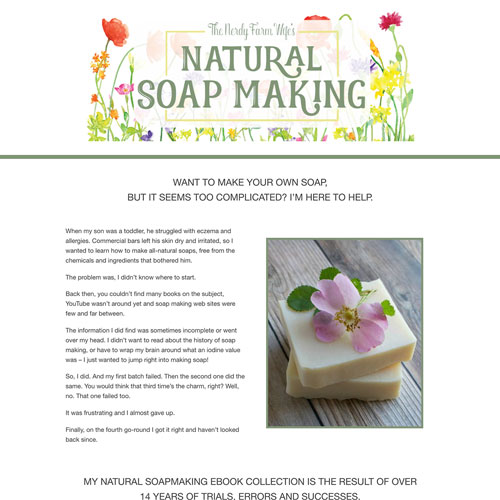 Online course for soap making funnel example