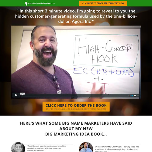 Book marketing funnel from Todd Brown