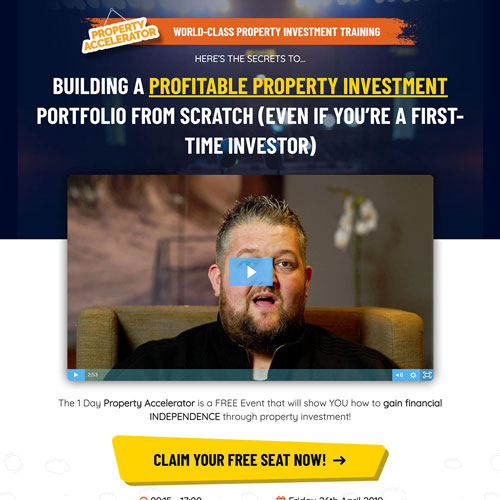 Property investment coaching program funnel example