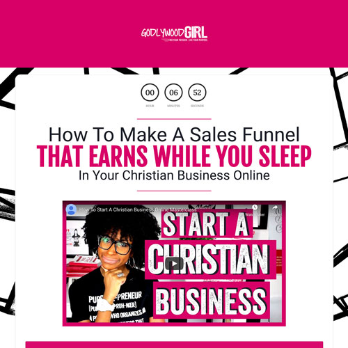 Coaching for Christian based business funnel