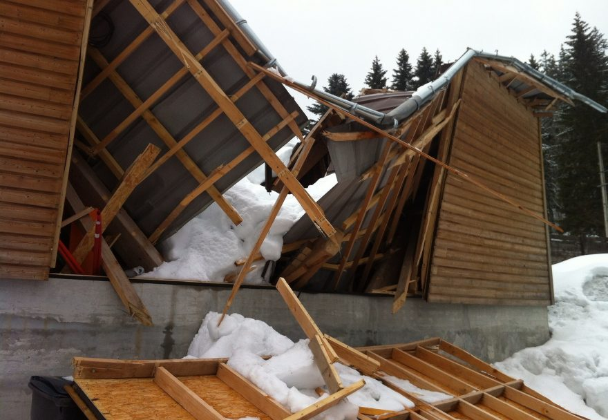Photo by Richard Allaway | Extreme Environments - Roof collapse from too much snow | Via Flickr