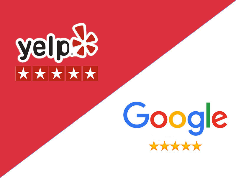garvin yelp google reviews logo banner