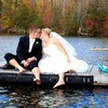 Kiss on dock