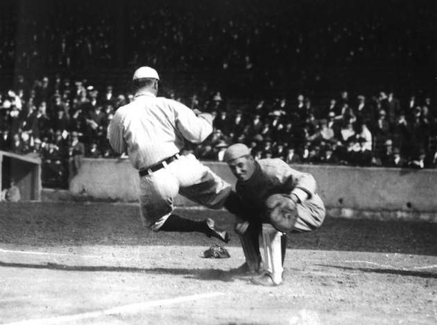 Image result for ty cobb spikes up slide