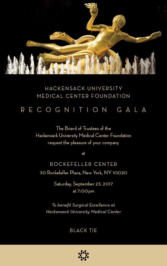 Hackensack University Medical Center Foundation Recognition Gala