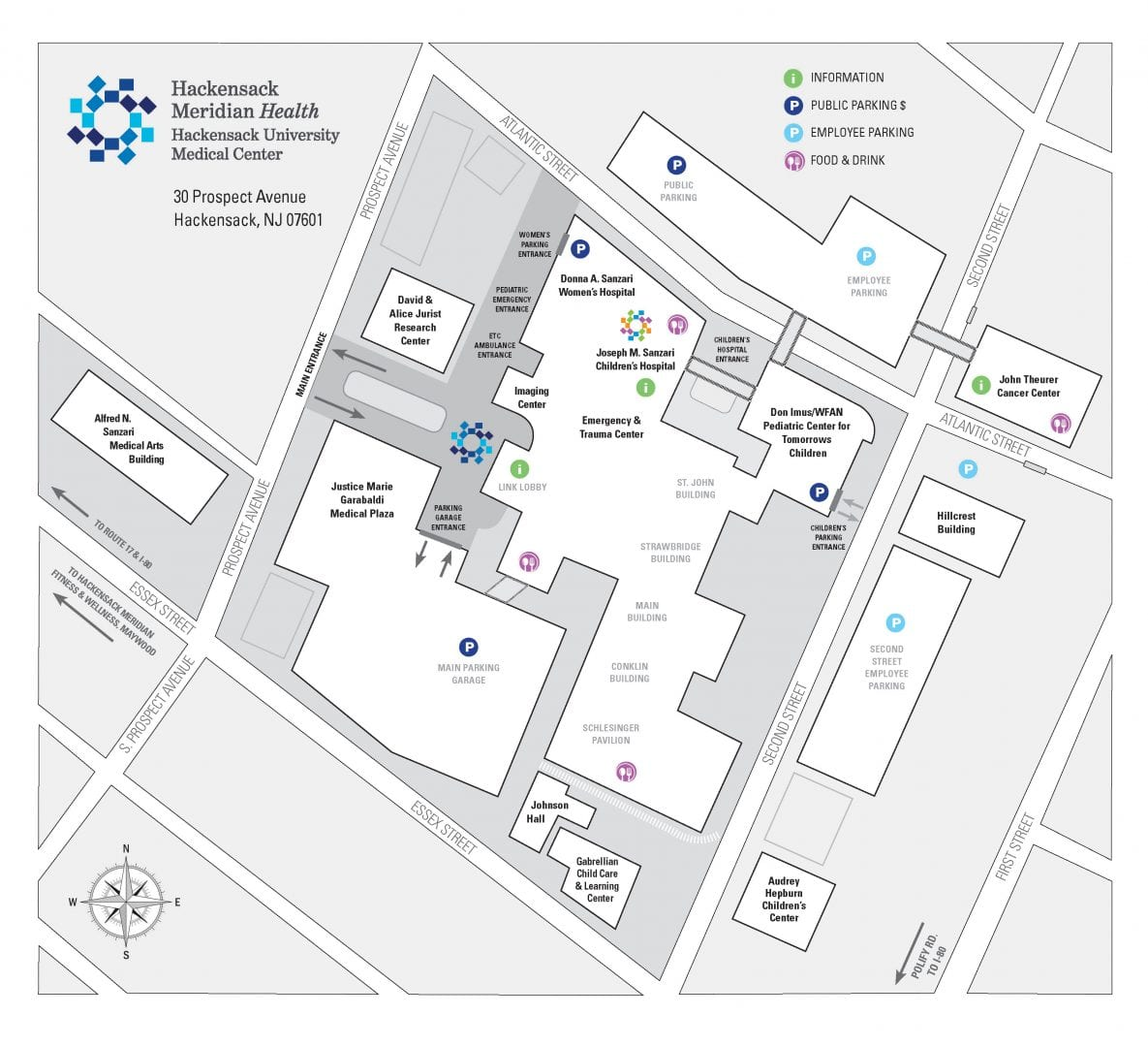 Umc Campus Map.Joseph M Sanzari Children S Hospital Hackensack University