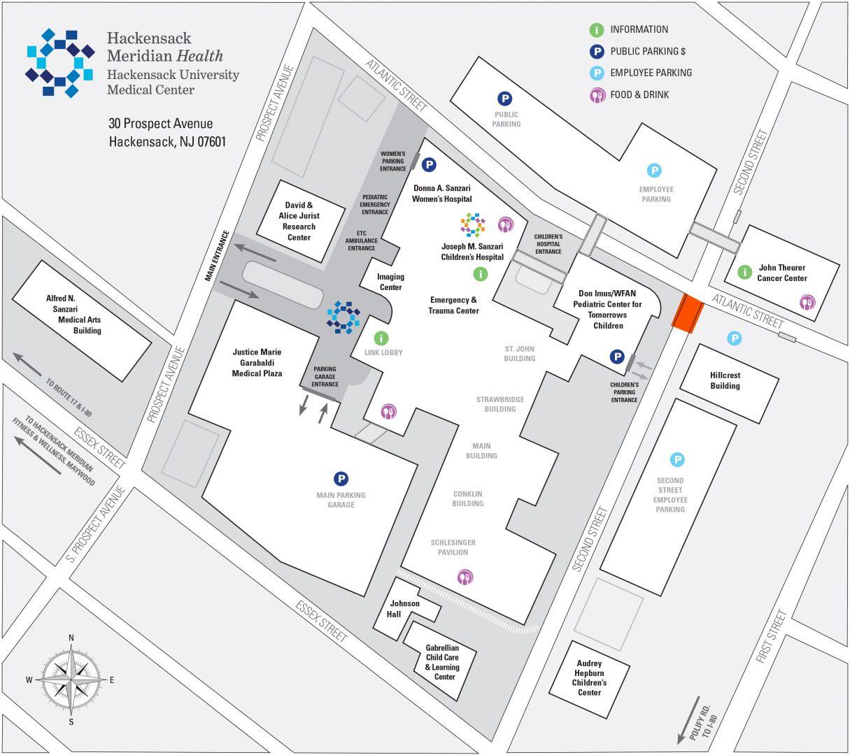 Hackensack University Medical Center Campus Map