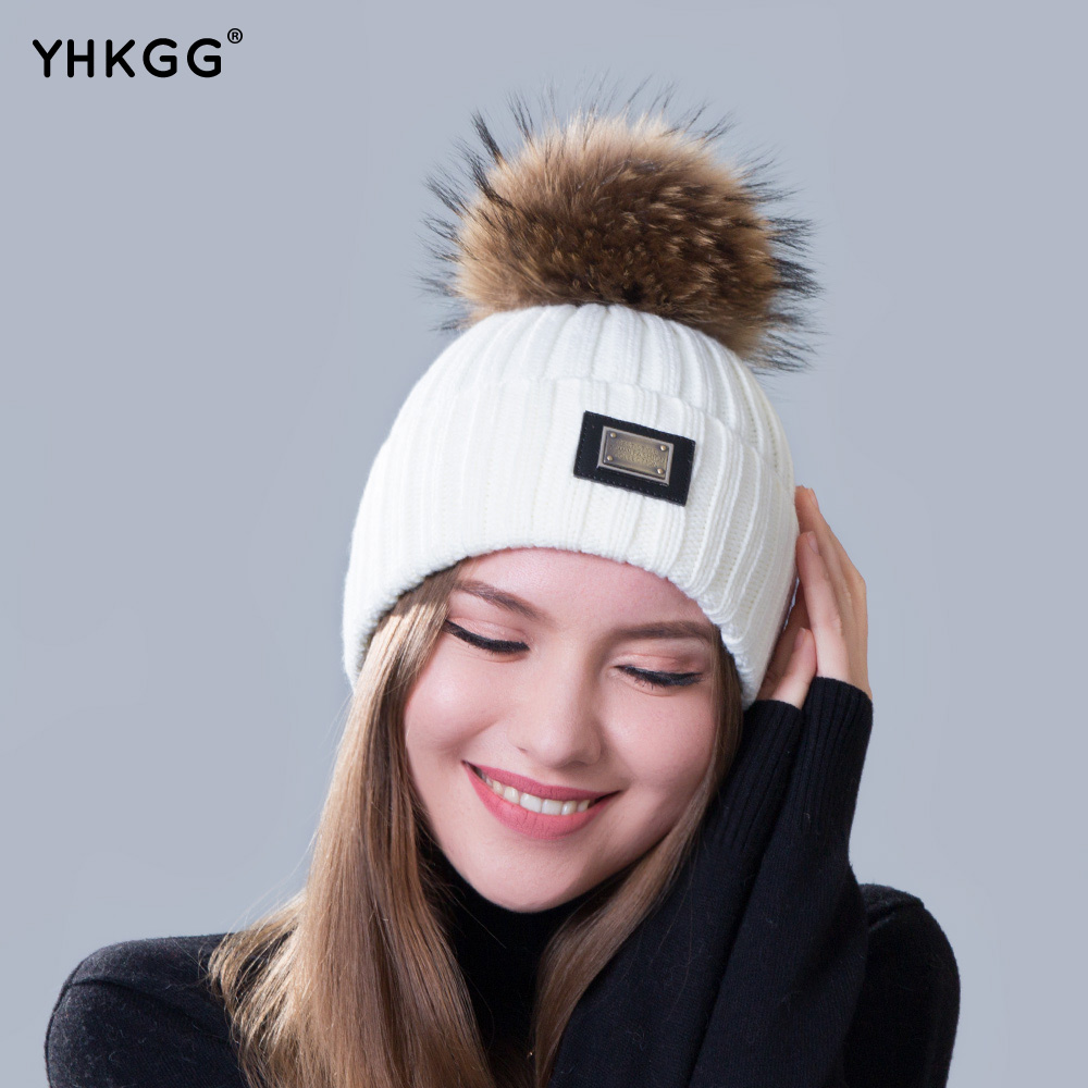 Womens Beanie Caps Pom Pom Winter Hat  d16faea8aca
