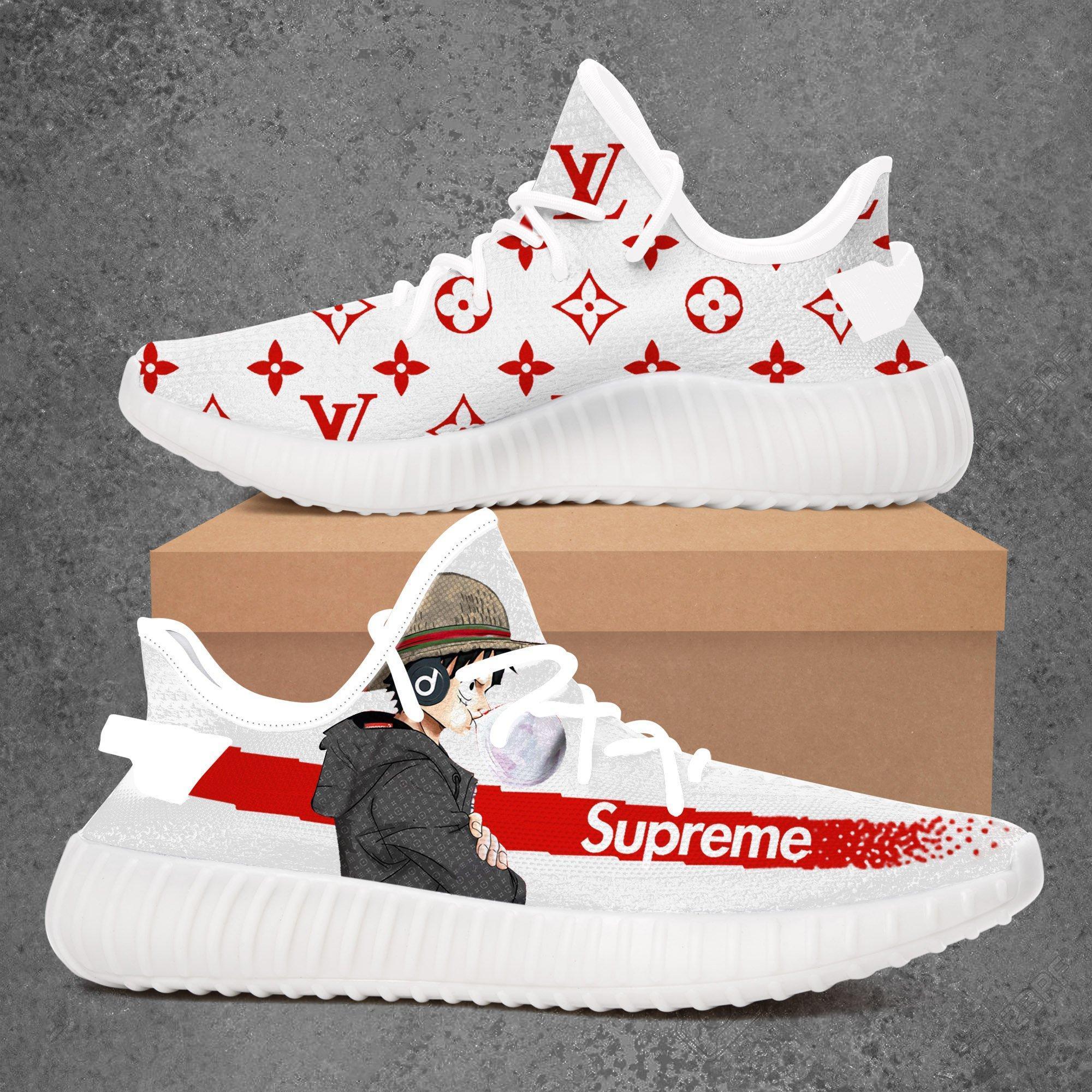 Adidas Yeezy 350 V2 x Supreme x LV