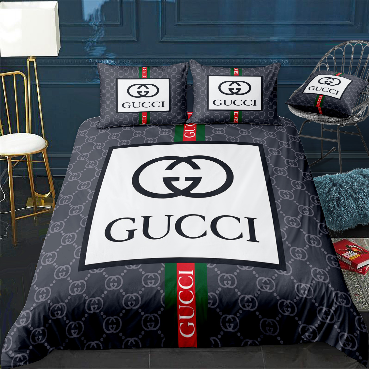 Gucci Fashion Custom Bedding Set Duvet Cover Pillowcases Crislux